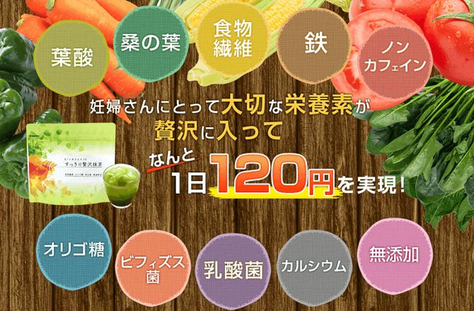 すっきり贅沢抹茶の特徴や成分 (1)